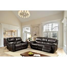 Keara Dark Brown Power Reclining Living Room Set