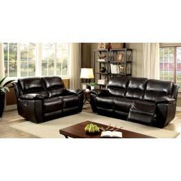 Keara Dark Brown Reclining Living Room Set