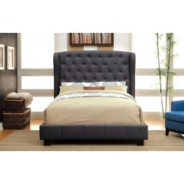 Fontes Gray Flax Fabric Cal. King Bed
