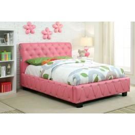 Juilliard Pink Leatherette Twin Bed
