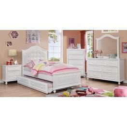 Olivia White Youth Panel Bedroom Set