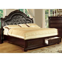 Scottsdale Brown Cherry Cal. King Storage Bed