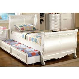 Alexandra Pearl White Full Sleigh Bed