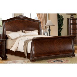 Penbroke Brown Cherry Cal. King Sleigh Bed