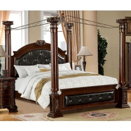 Mandalay Brown Cherry Queen Poster Canopy Bed