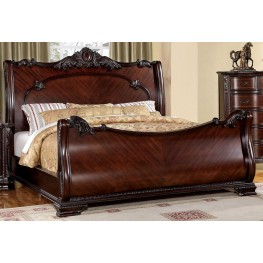 Bellefonte Brown Cherry Cal. King Sleigh Bed