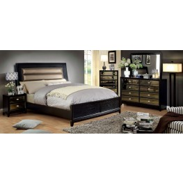 Golva Black Panel Bedroom Set