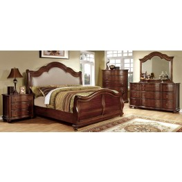 Bellavista Brown Cherry Sleigh Bedroom Set