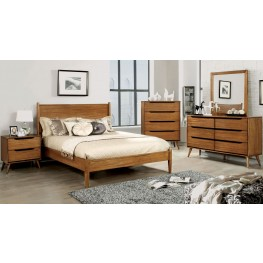 Lennart Oak Panel Bedroom Set