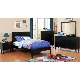Lennart II Black Youth Panel Bedroom Set