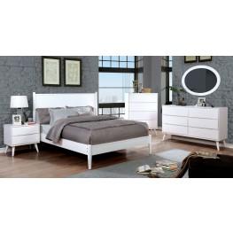 Lennart II White Panel Bedroom Set