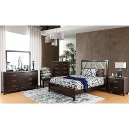 Winnifred Cherry Upholstered Panel Bedroom Set