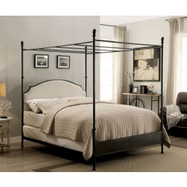 Sinead Gunmetal Twin Canopy Bed