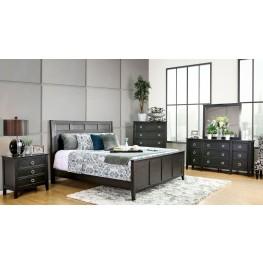 Arabelle Wire Brushed Black Panel Bedroom Set