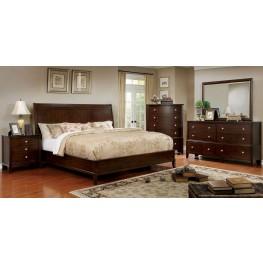 Ferrero Brown Cherry Platform Bedroom Set