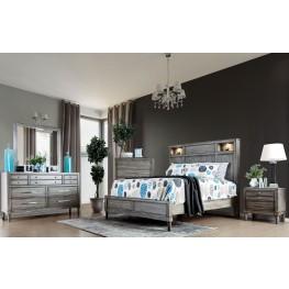 Daphne Gray Upholstered Platform Bedroom Set