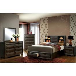 Nikomedes Espresso Platform Storage Bedroom Set