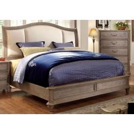 Belgrade II Rustic Natural Tone Upholstered Queen Bed