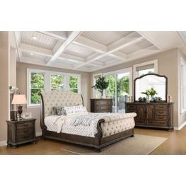 Lysandra Rustic Natural Tone Sleigh Bedroom Set
