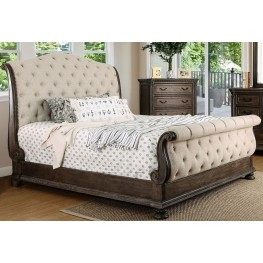 Lysandra Rustic Natural Tone Queen Sleigh Bed