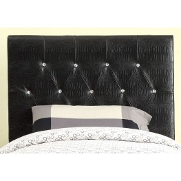 Galen Black Twin Headboard