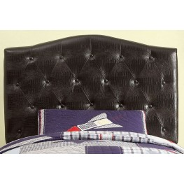 Calpas Brown Crocodile Leatherette Twin Headboard