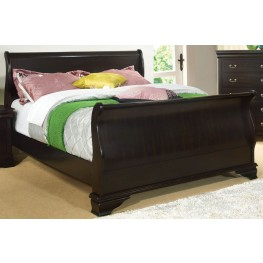 Laurelle Espresso Cal. King Sleigh Bed