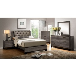 Manvel Dark Gray Youth Upholstered Bedroom Set