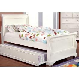 Mullan White Twin Sleigh Bed