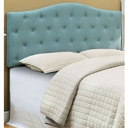 Alipaz Blue Flax Fabric Full/Queen Size Headboard