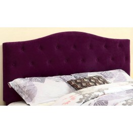 Alipaz Purple Flax Fabric Full/Queen Size Headboard