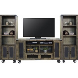 Cargo Brown Entertainment Wall Unit