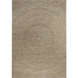 Breeze Indoor/Outdoor Circles Cerulean Gray and Brown Large Area Rug