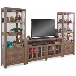 Color Time Saybrook Rustic Oak Entertainment Wall