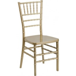 Flash Elegance Gold Resin Stacking Chiavari Chair