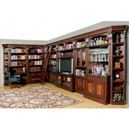 Corsica Large Entertainment Bar Wall Unit