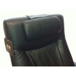 Oslo Black Top Grain Leather Headrest
