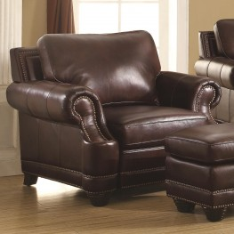 Crawford 2-Tone Brown Leather Chair