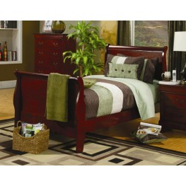 Louis Philippe Cherry Full Sleigh Bed