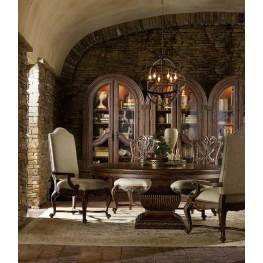 Adagio Dark Wood 60'' Round Urn Dining Room Set