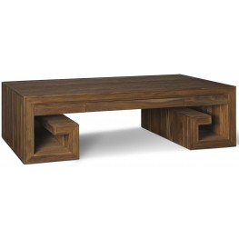 Crawford Sepia Greek Key Coffee Table