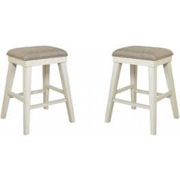 Mystic Cay Weathered Backless Stool Set of 2