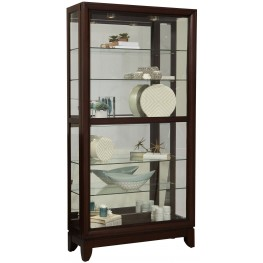 Chocolate Cherry Two Way Sliding Door Curio
