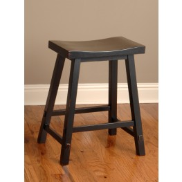 Biscayne Black 24'' Backless Counter Stool