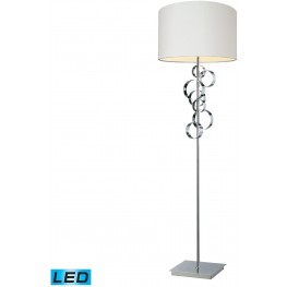 Avon Chrome Comtemporary LED Floor Lamp With Intertwined Circular Design