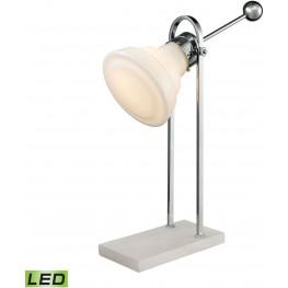 Adjustable Vintage Ball Handle Polished Nickel LED Desk Lamp