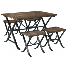 Freimore 5 Piece Rectangular Dining Room Table Set
