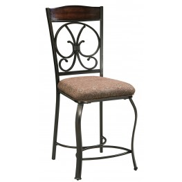 Glambrey Upholstered Counter Stool Set of 4