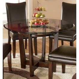 Charrell Round Glass Top Table