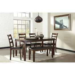Coviar Brown 6 Piece Dining Room Set